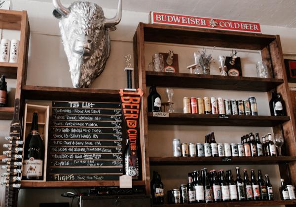 a silver buffalo mount